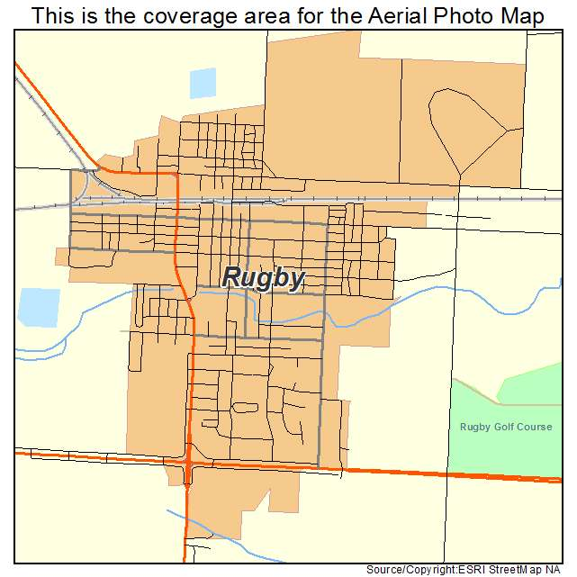 Rugby, ND location map