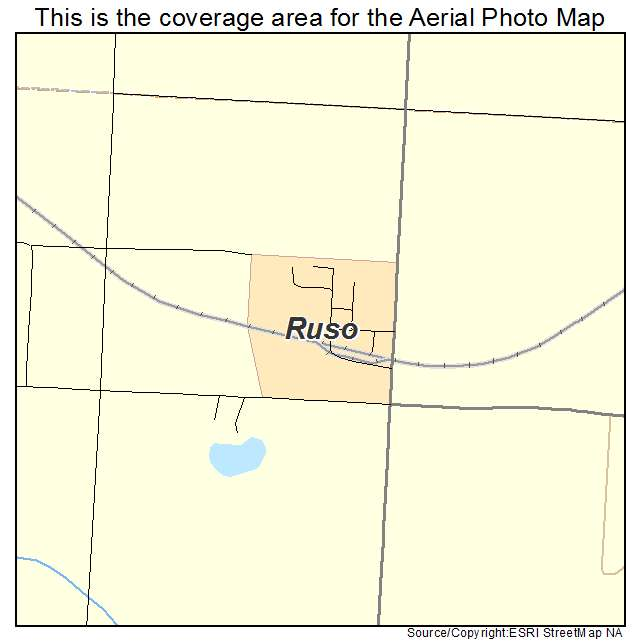 Ruso, ND location map