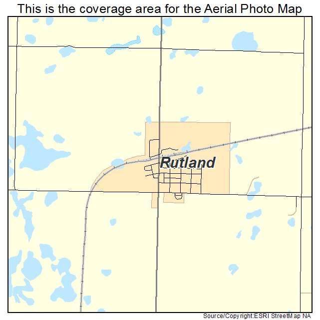 Rutland, ND location map