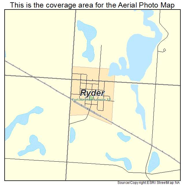 Ryder, ND location map