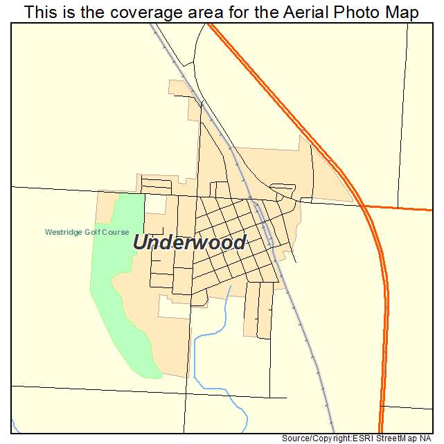 Underwood, ND location map