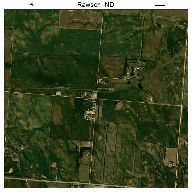 Rawson, ND air photo map