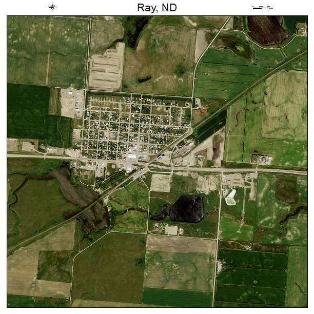 Ray, ND air photo map