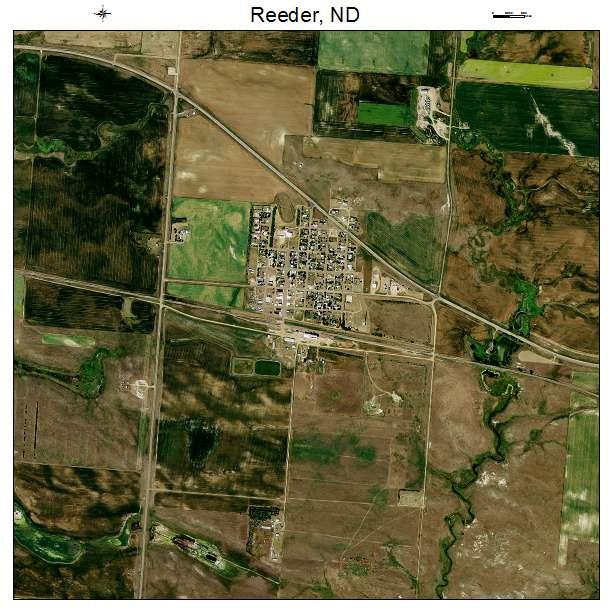 Reeder, ND air photo map