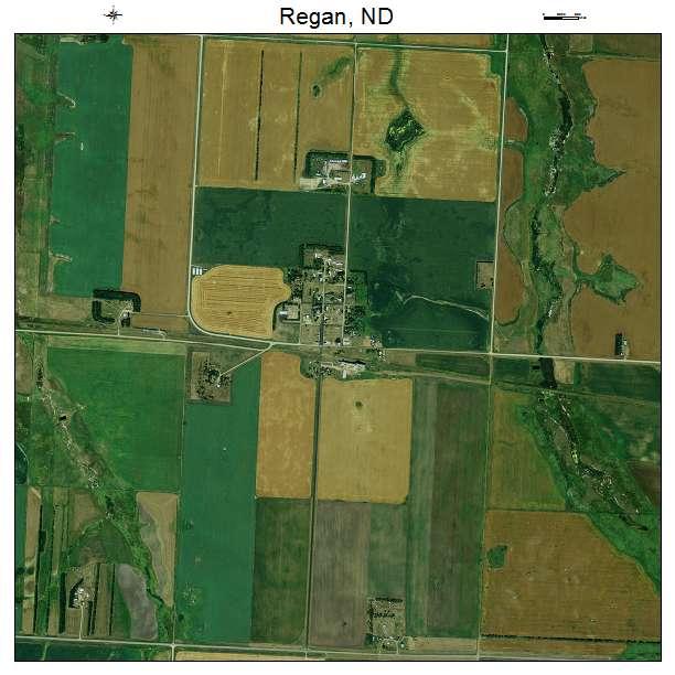 Regan, ND air photo map