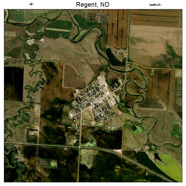 Regent, ND air photo map