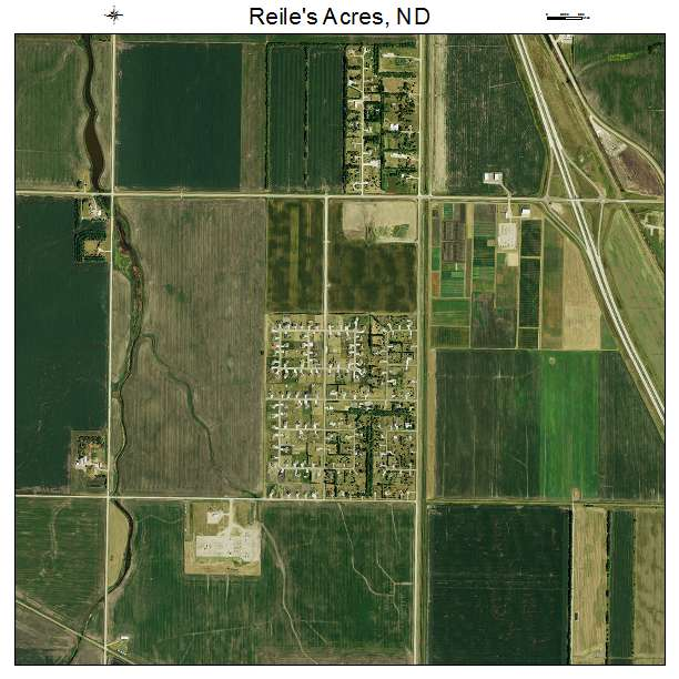 Reiles Acres, ND air photo map