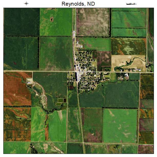 Reynolds, ND air photo map