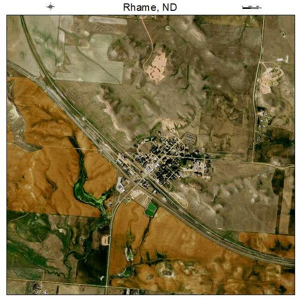 Rhame, ND air photo map