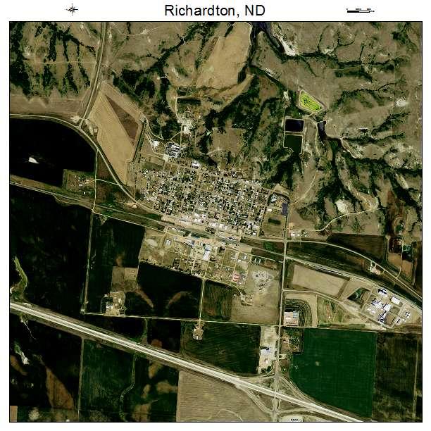 Richardton, ND air photo map