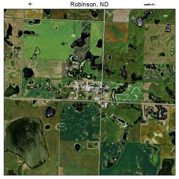 Robinson, ND air photo map