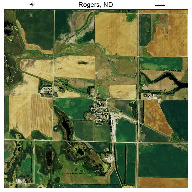 Rogers, ND air photo map