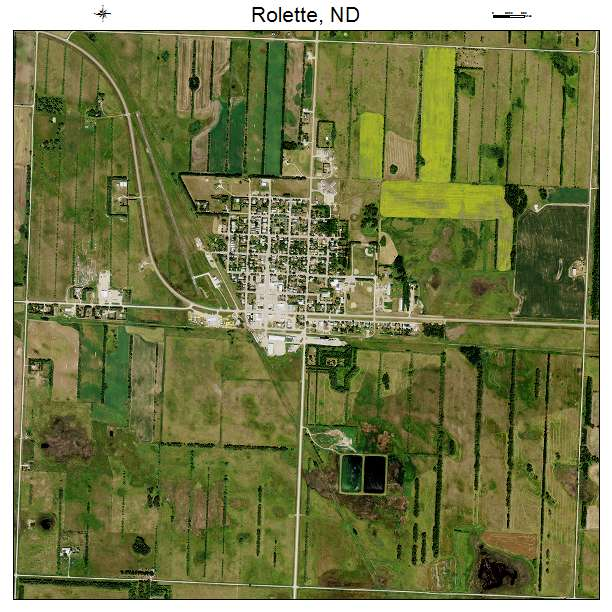 Rolette, ND air photo map