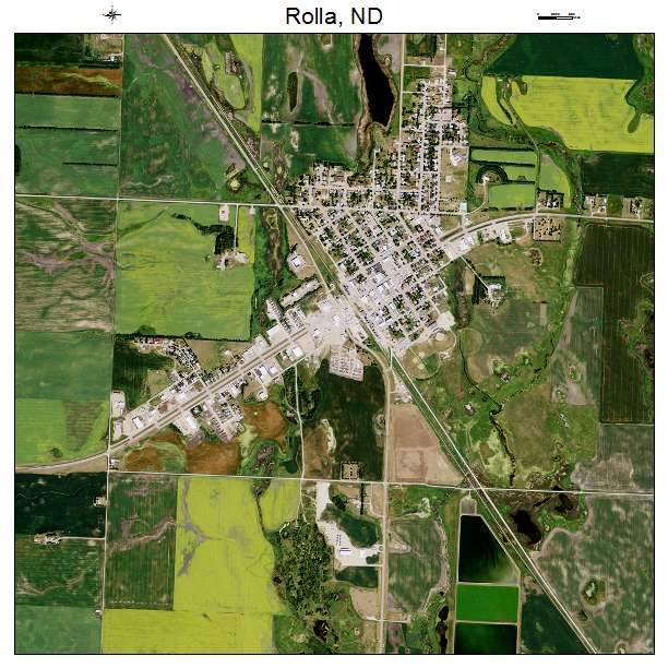 Rolla, ND air photo map