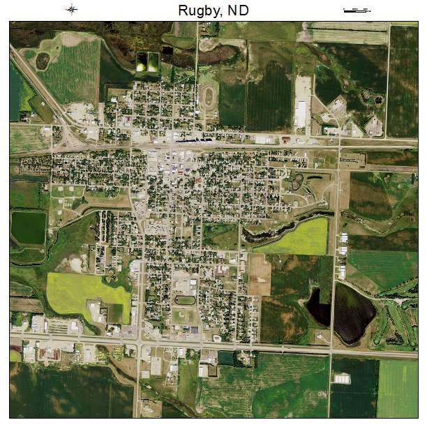 Rugby, ND air photo map