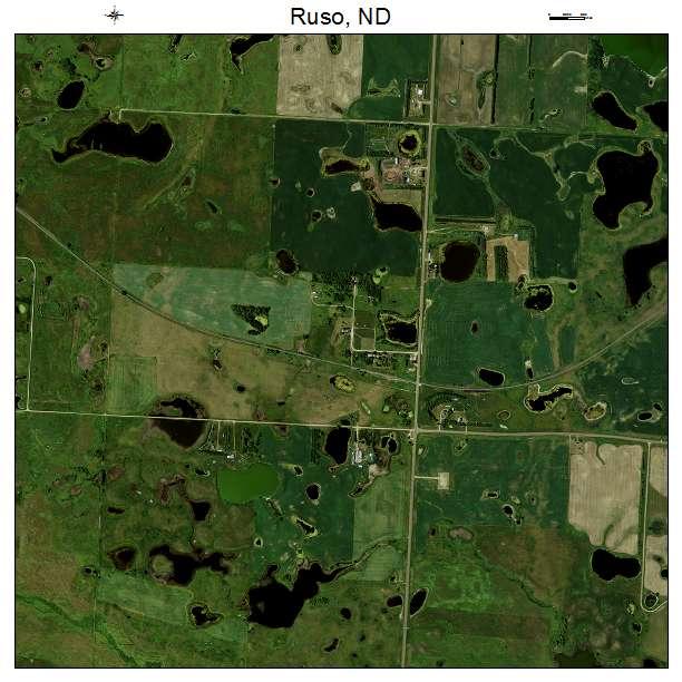 Ruso, ND air photo map