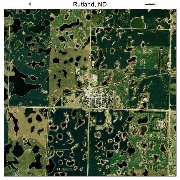 Rutland, ND air photo map