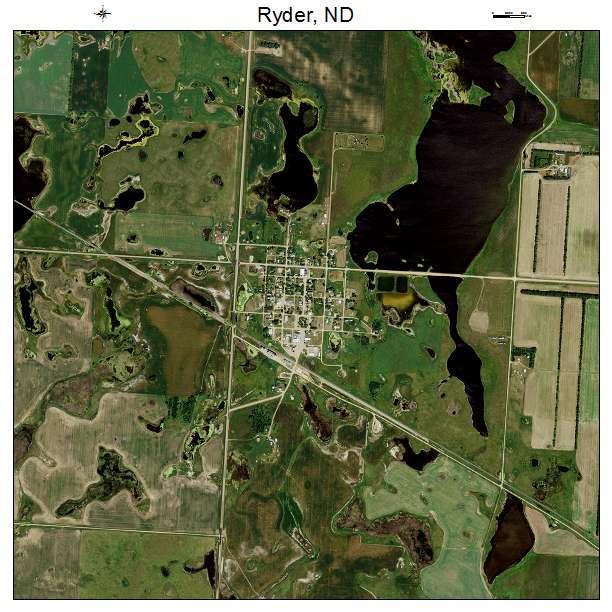 Ryder, ND air photo map