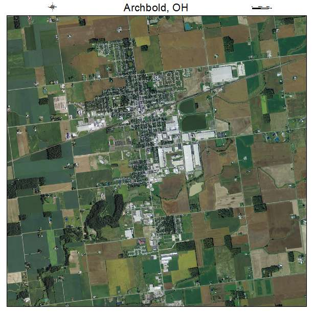 aerial photography map of archbold oh ohio. Black Bedroom Furniture Sets. Home Design Ideas