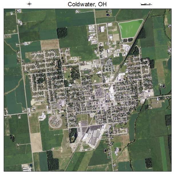 Aerial Photography Map of Coldwater, OH Ohio