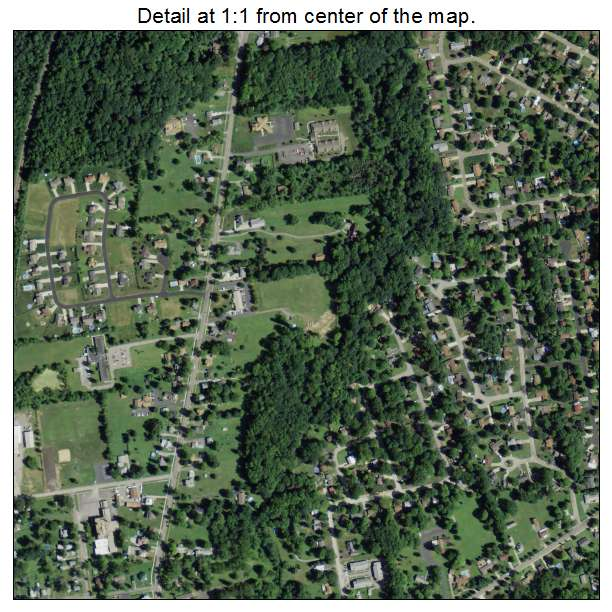 Town Center By Cortland: Aerial Photography Map Of Cortland, OH Ohio