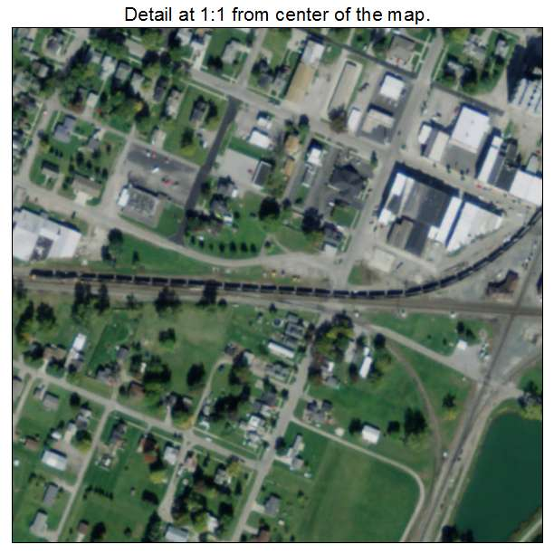 Deshler Ohio Map.Deshler Oh Ohio Aerial Photography Map 2015