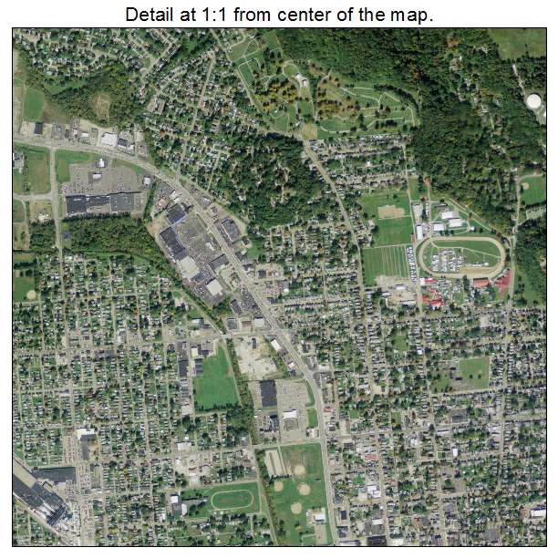 Lancaster, Ohio aerial imagery detail