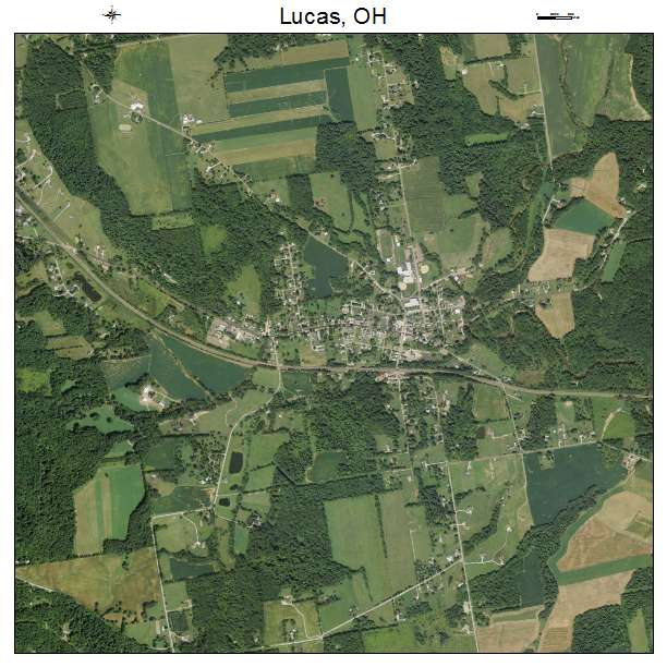 Lucas Ohio Map.Aerial Photography Map Of Lucas Oh Ohio
