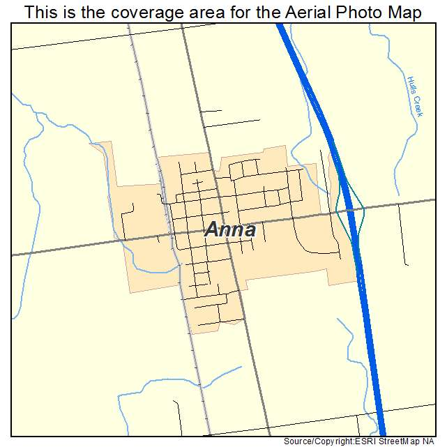 Aerial Photography Map Of Anna Oh Ohio
