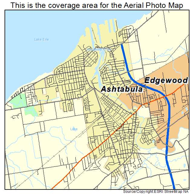 Aerial Photography Map Of Ashtabula Oh Ohio
