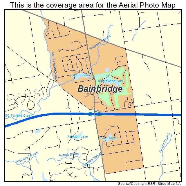 Aerial Photography Map Of Bainbridge Oh Ohio