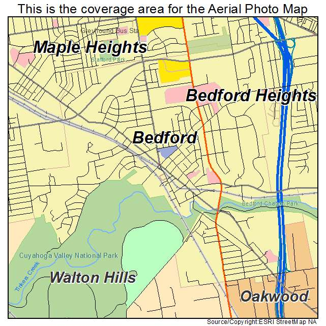 Aerial Photography Map of Bedford, OH Ohio