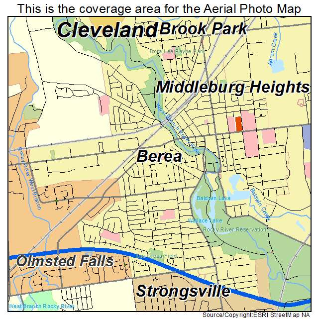 Aerial Photography Map Of Berea Oh Ohio