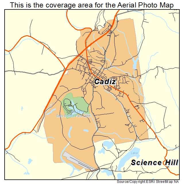 Aerial Photography Map Of Cadiz Oh Ohio