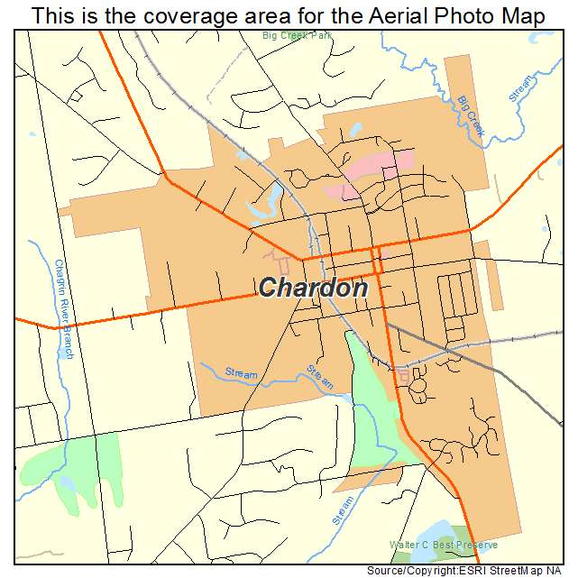 Aerial Photography Map Of Chardon Oh Ohio