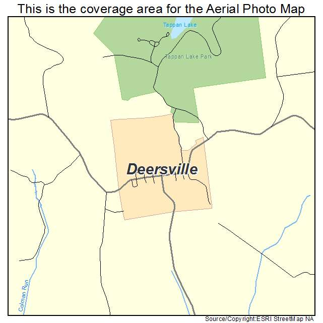 Deersville, OH location map