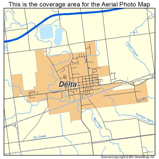 Aerial Photography Map of Delta OH Ohio