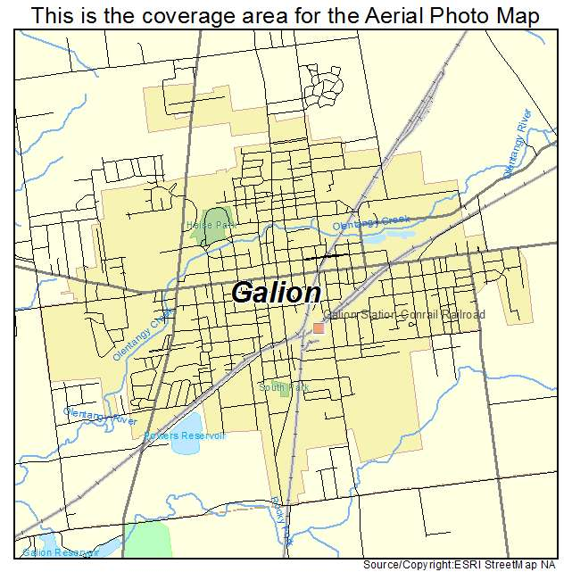 Aerial Photography Map Of Galion OH Ohio