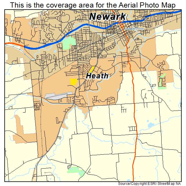 Aerial Photography Map Of Heath Oh Ohio