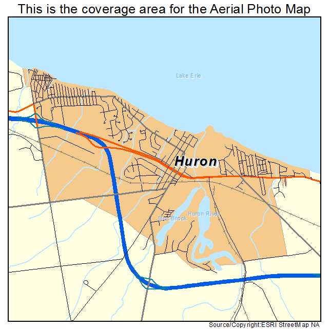 Aerial Photography Map Of Huron OH Ohio