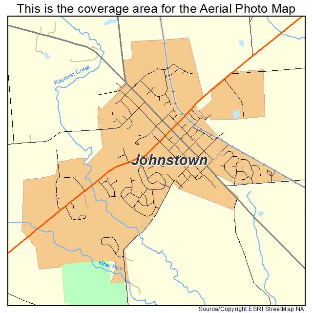 Aerial Photography Map Of Johnstown OH Ohio