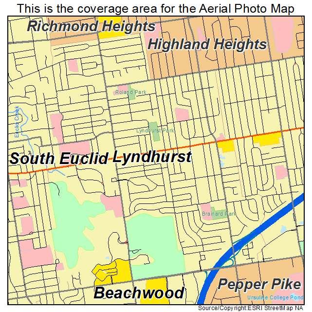 Lyndhurst Ohio Map.Aerial Photography Map Of Lyndhurst Oh Ohio