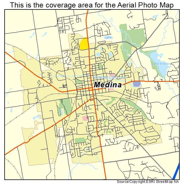 Aerial Photography Map of Medina, OH Ohio