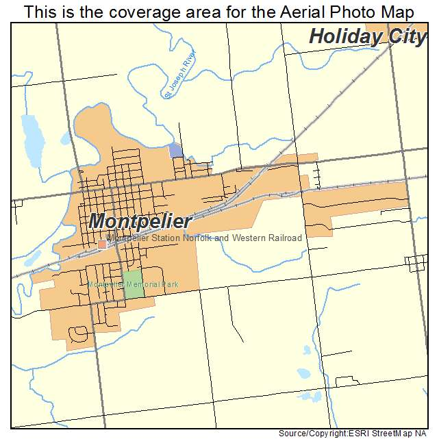 Aerial Photography Map of Montpelier OH Ohio