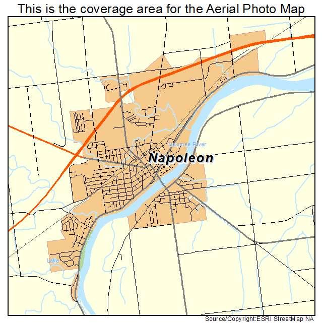 Napoleon Oh Ohio Aerial Photography Map 2015