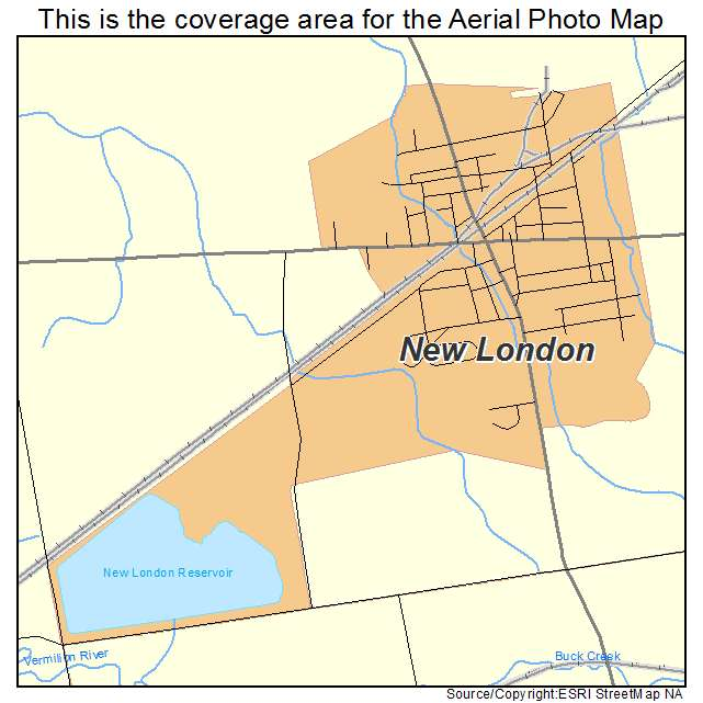 New London Ohio Map.Aerial Photography Map Of New London Oh Ohio