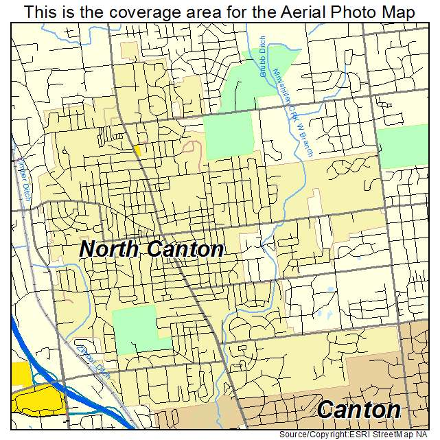 North Ohio Map.Aerial Photography Map Of North Canton Oh Ohio