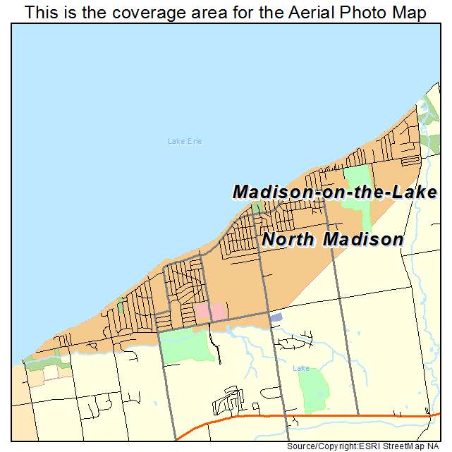 Aerial Photography Map Of North Madison OH Ohio