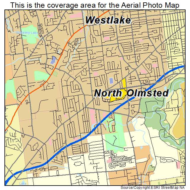 North Ohio Map.Aerial Photography Map Of North Olmsted Oh Ohio