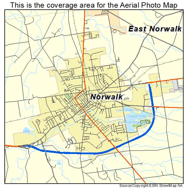 Aerial photography map of norwalk oh ohio norwalk oh location map sciox Choice Image